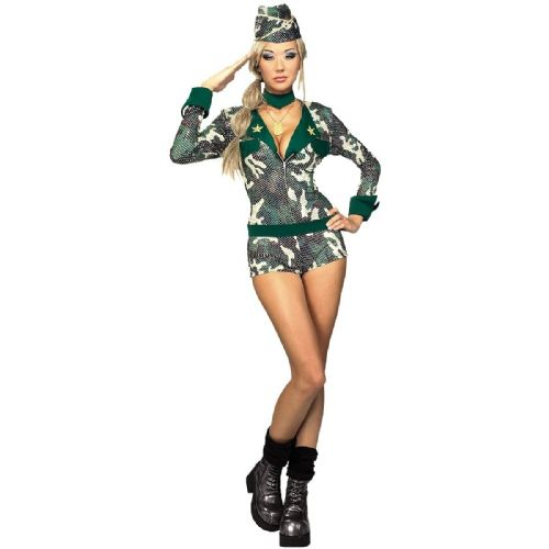 Army Girl - Sexy Soldier Fancy Dress (Secret Wishes 888124)
